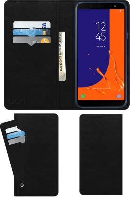 ACM Flip Cover for Samsung Galaxy On6(Black, Cases with Holder)