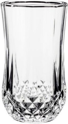Frabjous Decorative Tumblers Luxury Crystal Clear Glass Set(Glass, 320 ml, Clear, Pack of 4)
