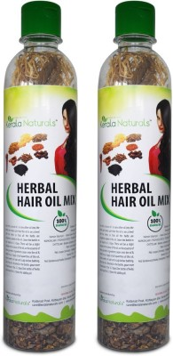 Kerala Naturals Herbal Hair Oil Mix (9 Vital Herbs) For long, thick, and lustrous hair - 2 Packs Hair Oil(50 g)