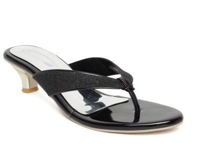 BELLA TOES Women Black Heels