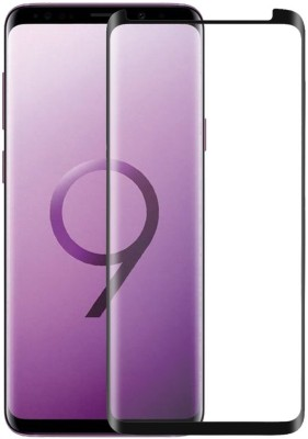 D & Y Edge To Edge Tempered Glass for DY 3D Case Friendly Tempered Glass Screen Protector Round Edge for Samsung Galaxy S9 with installation Kit(Pack of 1)