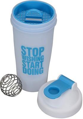 VOLCO My Gym Protein Shaker Bottle 600 ml Shaker(Pack of 1, White, Blue)
