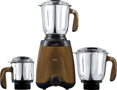 V-Guard Envy with 100% Copper Winding Motor 600 W Mixer Grinder(Brown, 3 Jars)