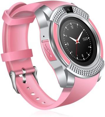 AVIKA Notifier Fitness pink, black Smartwatch(Pink, Black Strap Free size)