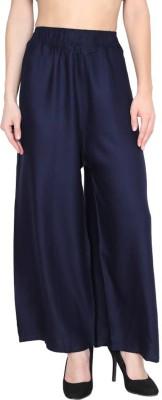TASHI Flared Women Dark Blue Trousers TASHI Palazzos