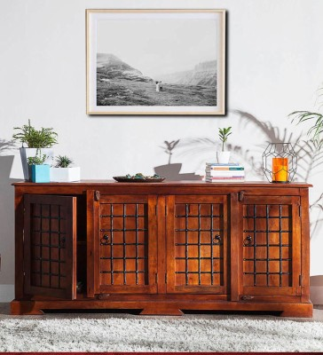 Balaji Wooden Solid Wood Free Standing Cabinet(Finish Color - Honey)