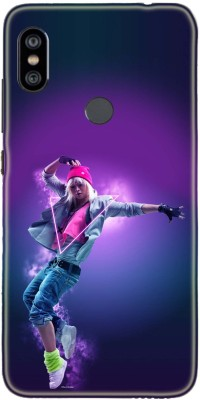 Khushal Back Cover for Mi Redmi Note 6 Pro Multicolor, Dual Protection, Flexible Case