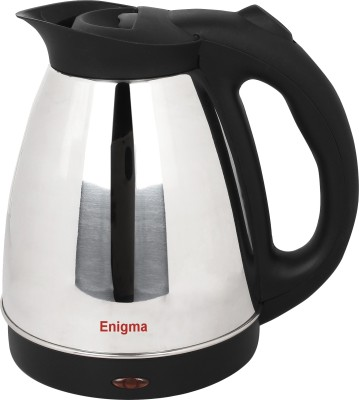 Enigma High Quality Water, Tea & Coffee Electric Kettle(1.7 L, Silver, Black)