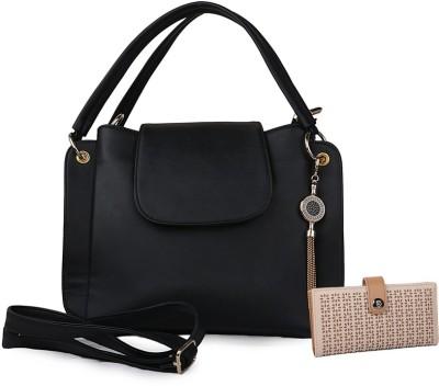 johan&keith Black Sling Bag at flipkart