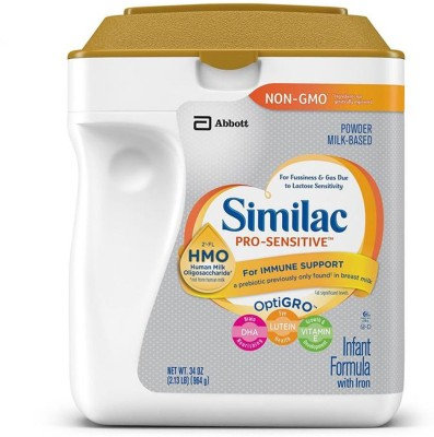 Similac Pro-Sensitive Infant Formula (HMO) (Non-GMO) - 964G (34oz) (USA) (Pack of 2)(1928 g, Upto 24 Months) at flipkart