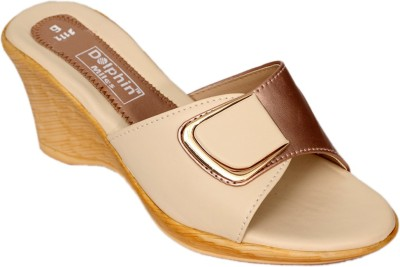 Dolphin Miles Women Beige, Brown Wedges Dolphin Miles Wedges