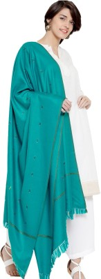 Weavers Villa Acrylic Blend, Pure Wool Woven Women Shawl(Green)