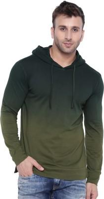 Gritstones Ombre Men Hooded Green T-Shirt
