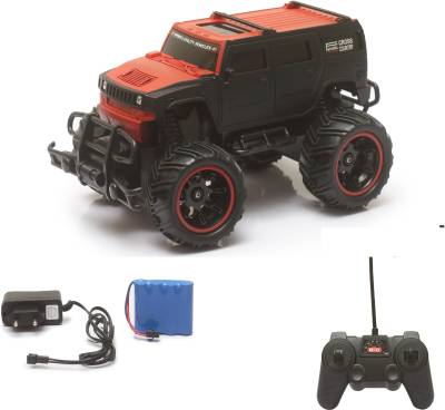 Miss & Chief Big and Mean Rock Crawling 1:20 Scale Modified Off-Road Hummer RC Car/Monster Truck (Off-Road Red)