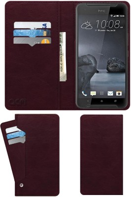 ACM Flip Cover for Htc One X9(Maroon, Cases with Holder)