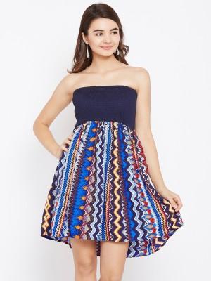 AASK Women Tube Multicolor Dress
