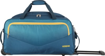 American Tourister OHIO WHEEL DUFFLE 55 cm- BLUE Duffel Strolley Bag(Blue) at flipkart