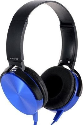 A Connect Z SN-VMB-4-Blue Wired Headset with Mic(Blue, Over the Ear)