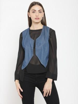 Tunic Nation Sleeveless Solid Women Denim Jacket
