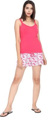 SharkTribe Women Solid Multicolor Top & Shorts Set