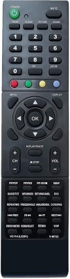 LipiWorld VC114 LX291 V-MT22 Slime LCD LED TV Remote Control Compatible for  LCD LED TV VIDEOCON Remote Controller(Black)