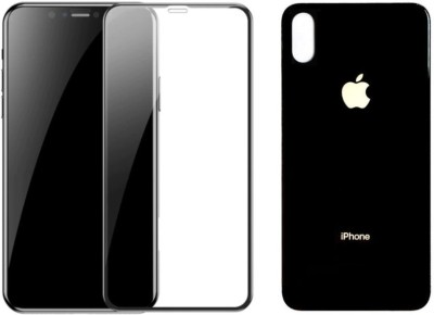BlackBug Tempered Glass Guard for Apple iPhone Xs (Front and Back) (Black)Screen Protector,Screen Guard,(Clear HD) 0.3mm, 2.5D(Pack of 1)