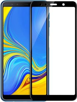 BlackBug Tempered Glass Guard for Samsung Galaxy A7 (2018) (Black) Screen Protector,Screen Guard,(Clear HD) 0.3mm, 2.5D