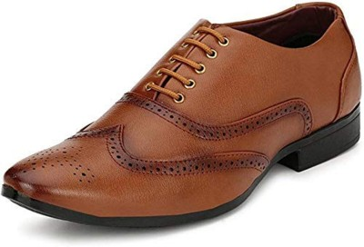 von huette Party wear oxford tan formal dress shoes for men