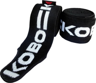 Kobo Power Weight Lifting Wraps Bandages Knee Support (Free Size, Assorted)