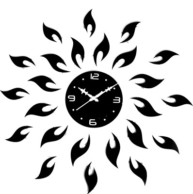 derz Analog 10 cm X 10 cm Wall Clock(Black, Without Glass)