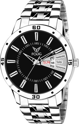 Fogg 2034-BK-CK Day and Date Analog Watch  - For Men