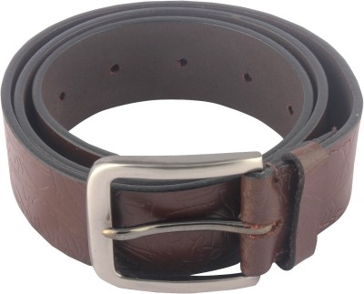 Hidelink Men Casual Brown Genuine Leather Belt Hidelink Belts