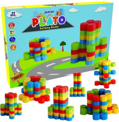 Nabhya Junior Plato Building Blocks Early Learning Educational Toy For Kids Age 2 To 5 Multicolor Nabhya Blocks   Building Sets
