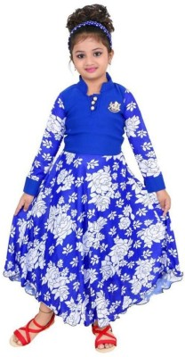 7343318e7cc Flipkart. FTC FASHIONS Girls Maxi/Full Length Party Dress(Blue, Full  Sleeve) best