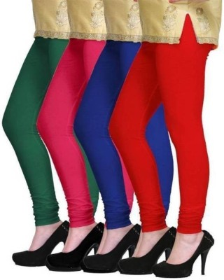 CN FASHION Churidar  Legging(Green, Blue, Red, Pink, Solid)