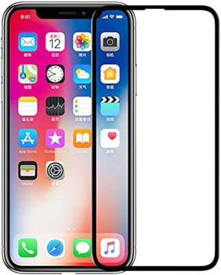 Joice Screen Guard for 5D Curved Edge Premium Tempered Glass Front Screen Protector for IPhone X S (Black)(Pack of 1)