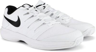 Nike AIR ZOOM PRESTIGE HC Tennis Shoes For Men(White) 1