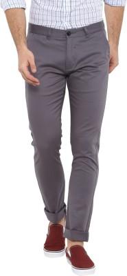 Red Tape Slim Fit Men Grey Trousers