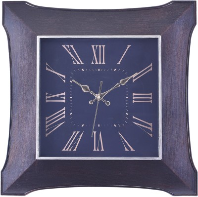 eCraftIndia Analog 58 cm X 7 cm Wall Clock(Brown, With Glass) at flipkart