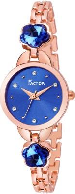 Factor FR-L113-FLOWER-DB Miss Elegant Diamond Rose Gold Collection Analog Watch  - For Women