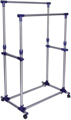 hkc house Steel Floor Cloth Dryer Stand DOUBLE_CLOTHRACK(1 Tier)