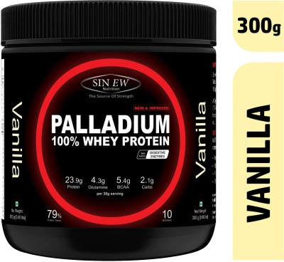 Sinew Nutrition Palladium Whey Protein with Digestive Enzymes, 300 grm (Vanilla) Whey Protein(300 g, Vanilla)  available at flipkart for Rs.1099