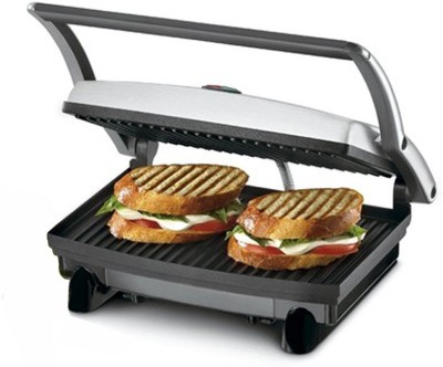 Nova 2 SLICE SANDWICH MAKER Grill(Black & Steel)
