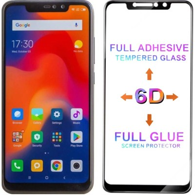 Micvir Edge To Edge Tempered Glass for Mi Redmi Note 6 Pro(Pack of 1)
