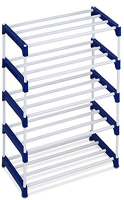 Ebee Metal Shoe Stand(Blue, 5 Shelves)