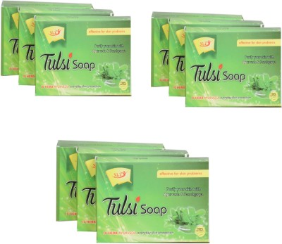 SLT AYURVEDA TULSI SOAP (PACK OF 9)(9 x 75 g)