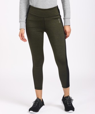 Alcis Solid Women Green Tights at flipkart