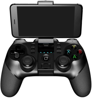Microware PG-9077 Wireless Bluetooth Handle Wireless Game Controller Games Joystick Gamepad for Smart Phones Tablets Smart TV  Gamepad(Black, For Android) at flipkart