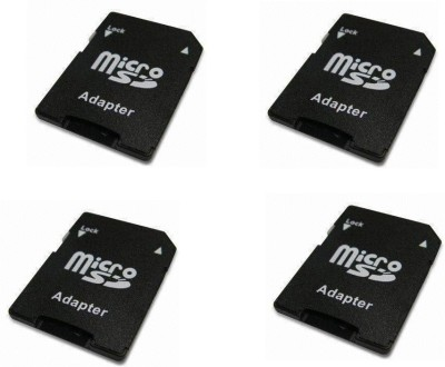 YTM Ytm 4 Pcs MicroSD to SD SDHC Memory Card Adapter Converter Jack (Black) 64 GB MicroSD Card Class 10 95  Memory Card  available at flipkart for Rs.699