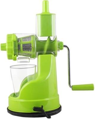 KITCHEN INDIA Unique Design Plastic Hand Juicer (Green Pack of 1 1 Juicer(Green, 1 Jar)